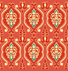 tribal ethnic flower texture ikat fabric vector image