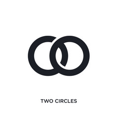 Two circles isolated icon simple element from vector