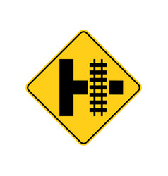 usa traffic road signs you will encounter vector image