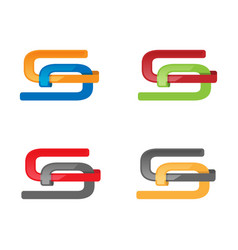 various color style s letter logo vector image
