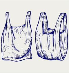 Various plastic bags vector