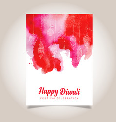 watercolor diwali poster vector image