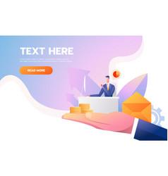 web page design - customer retention theme office vector image