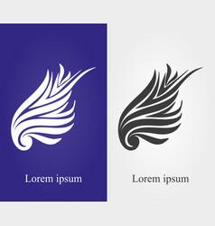 wing logo of stylish type 2 vector image