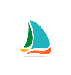 yacht boat logo vector image