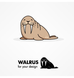 Cartoon walrus vector image