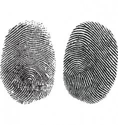 finger prints vector image vector image