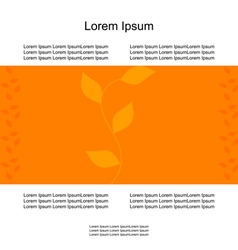 card branch of leaves autumn vector image