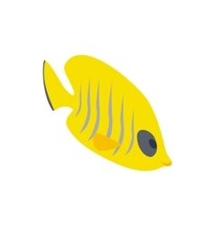 Fish yellow tang icon isometric 3d style vector image