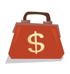 Handbag with dollar sign vector image