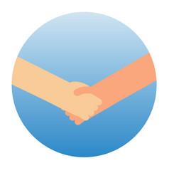 Shaking hands symbol of success vector
