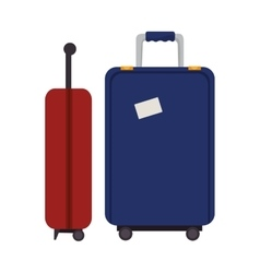 suitcase travel isolated icon vector image