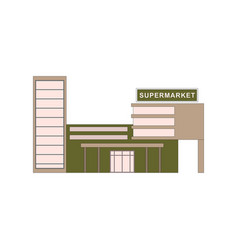 supermarket building where buying products for vector image vector image