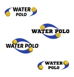 Water polo logo for the team and the cup vector image