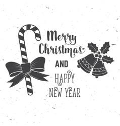 Wishing you very happy xmas typography design vector