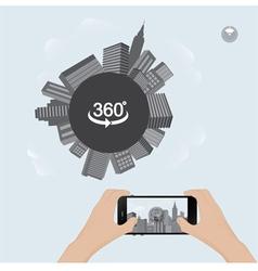 360 degree view in mobile urban scene vector image vector image