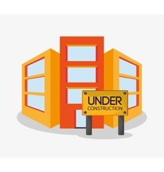 Building of under construction design vector