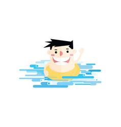 businessmen swimming in sea vector image vector image