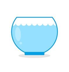 Empty aquarium fish Glass vessel for keeping vector image