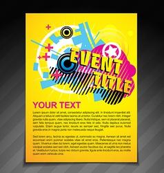 Event brochure flyer vector