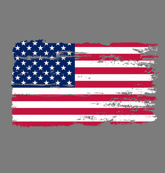 Flag usa grunge vector