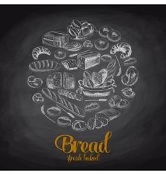 Hand drawn with bread Sketch vector image vector image