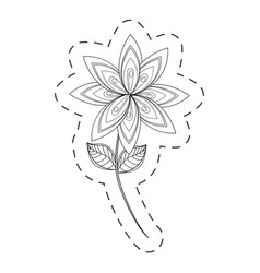 lilac flower decoration cut line vector image