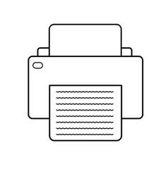 printer icon on white background printer sign vector image
