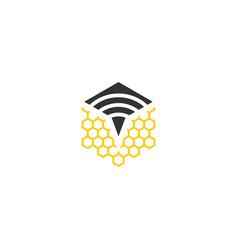 signal bee logo vector image