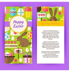 Vertical flyer template for happy easter vector