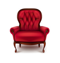 vintage red armchair vector image