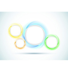 Transparent rings - abstract background for vector image vector image