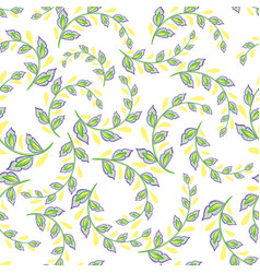 A repeating pattern of small leaves prints for vector