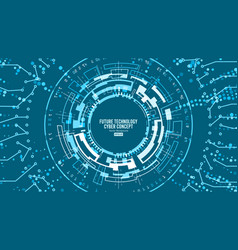 abstract futuristic technological background vector image vector image