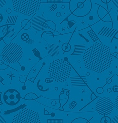 Abstract seamless background of different soccer vector image