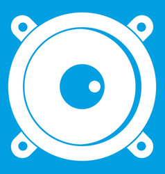 audio speaker icon white vector image
