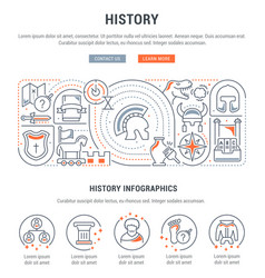 Banner history vector