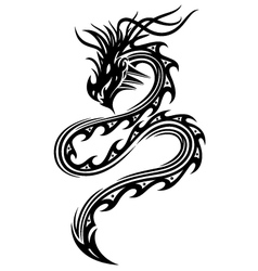 Black dragon vector image