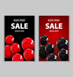 Black friday sale balloon concept of discount vector