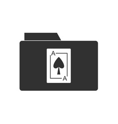 black icon on white background playing card on vector image