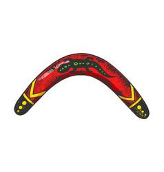Boomerang color sketch engraving vector