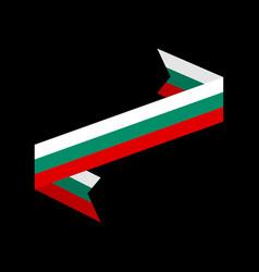 bulgaria flag ribbon isolated bulgarian tape vector image