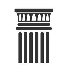 Classic column icon architectural and interior vector