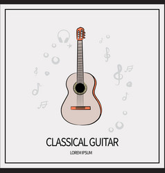 classical guitar icon vector image