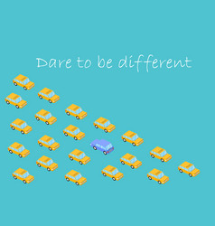 Concept dare to be different graphics car vector