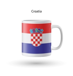 Croatia flag souvenir mug on white background vector image