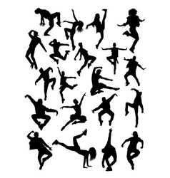 Dancer pose silhouette vector