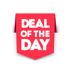 Deal day vertical ribbon bookmark tag vector