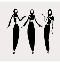 East women in veiled vector