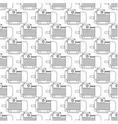 electric motor contour pattern vector image